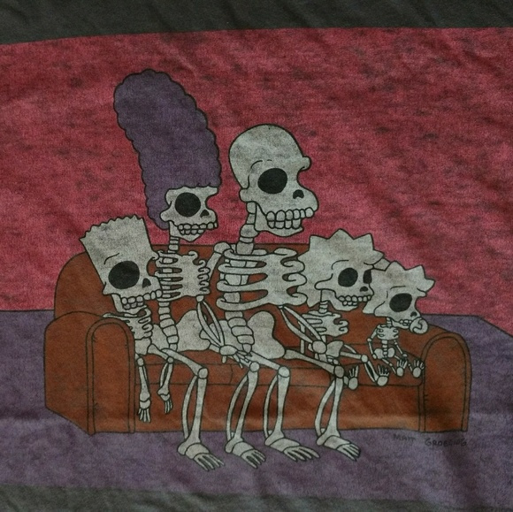 Simpsons Halloween Shirt.The Simpsons Halloween Couch Gag T Shirt